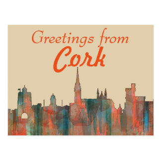 CORK, , IRELAND SKYLINE POSTCARD