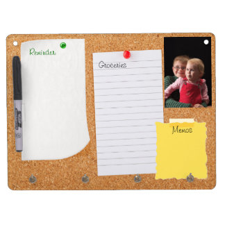 Cork Look Bulletin Board Dry Erase Board