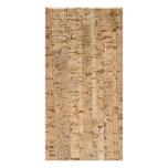 Cork-oak pattern photo card template