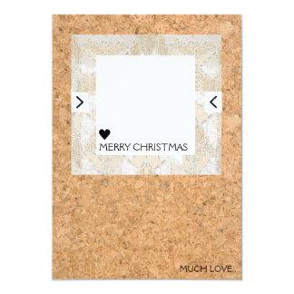 Cork Quirky Christmas Card 13 Cm X 18 Cm Invitation Card
