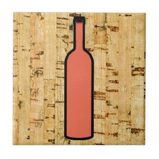 cork simulated wine bottle full tile design