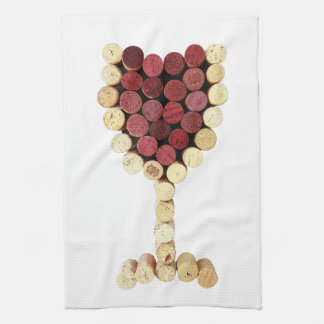 Cork Wine Glass Kitchen Towel