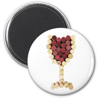 Cork Wine Glass Magnet