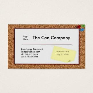 Corkboard Business Card