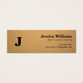 Corkboard Calling Card