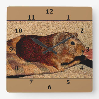 Corkboard Look Guinea Pig Wall Clock