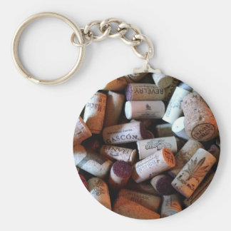 Corks a plenty basic round button key ring