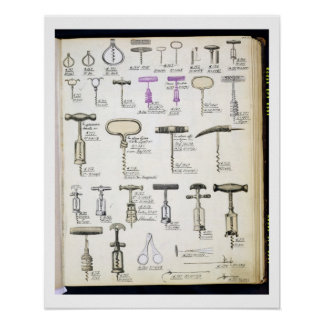 Corkscrews, from a trade catalogue of domestic goo poster