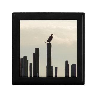 Cormorant/Pilings Small Square Gift Box