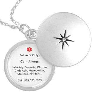 Corn Allergy Alert Necklace