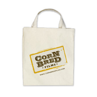 Corn Bred Films Organic Grocery Tote Canvas Bag