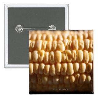 Corn close-up 15 cm square badge