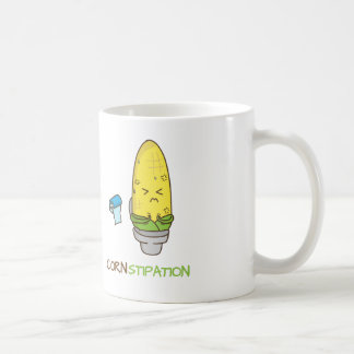 Corn Constipation in the Toilet Punny Humor Coffee Mug