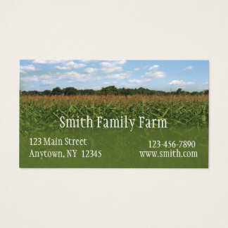 Corn Crop Business Card