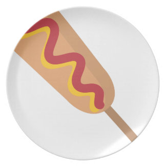 Corn Dog Drawing Plate