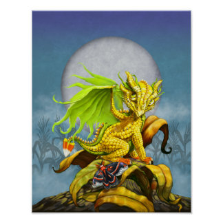 Corn Dragon 11x14 (4x6 and up) Poster