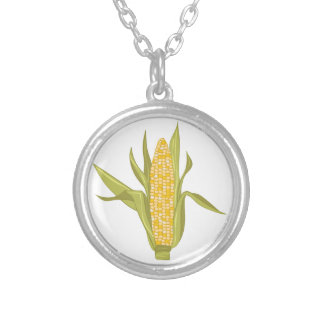 Corn Ear Silver Plated Necklace