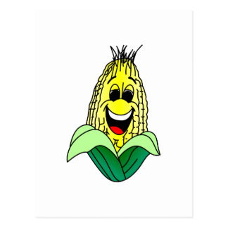 Corn Face Postcard