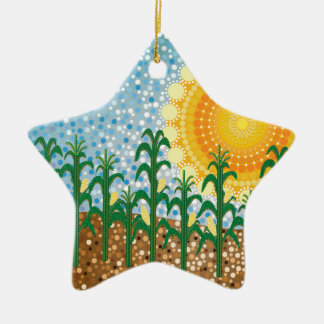 Corn Field Ceramic Ornament