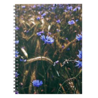 Corn Flower in Field Spiral Note Book