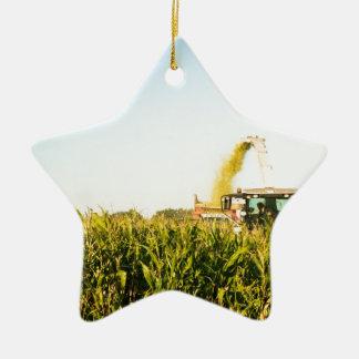 Corn Harvest Ceramic Star Decoration