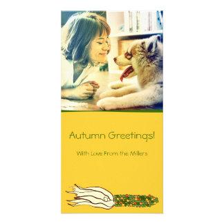 Corn Husks: Green Corn, Customized Photocard Personalised Photo Card