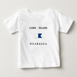 Corn Island Nicaragua Alpha Dive Flag Baby T-Shirt