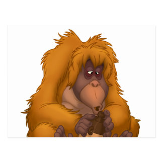 Corn-Jug-Playin' Orangutan Postcard