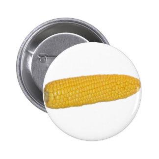 Corn on the Cob 6 Cm Round Badge
