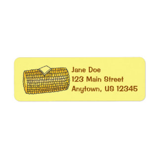 Corn on the Cob Corncob Butter Picnic Food Labels