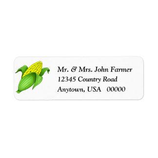 Corn On The Cob Return Address Labels