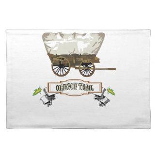 corn Oregon trail wagon Placemat
