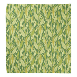 Corn plants pattern background bandana