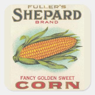 Corn Square Sticker