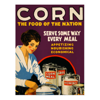 Corn The Food of the Nation Postcard