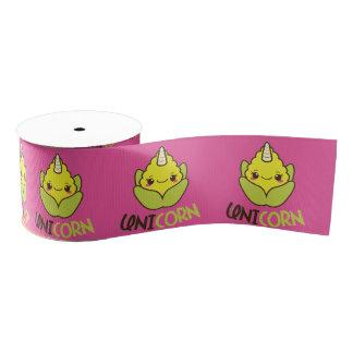 Corn Unicorn Grosgrain Ribbon