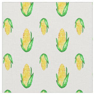 Corn watercolor seamless pattern fabric