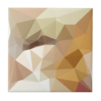 Corn Yellow Beige Abstract Low Polygon Background Ceramic Tile