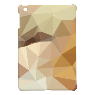 Corn Yellow Beige Abstract Low Polygon Background Cover For The iPad Mini