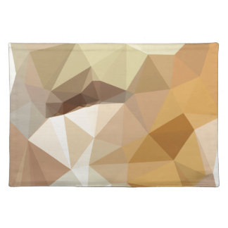 Corn Yellow Beige Abstract Low Polygon Background Placemat