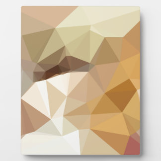 Corn Yellow Beige Abstract Low Polygon Background Plaque