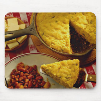 Cornbread, beans mouse pad