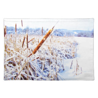 Corndog in the snow placemat