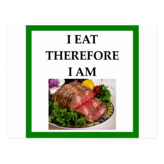 corned beef postcard
