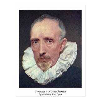 Cornelius Van Geest-Portrait By Anthony Van Dyck Postcard
