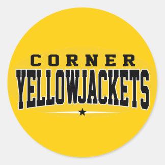 Corner High School; Yellowjackets Round Sticker