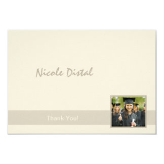 Corner Photo Thank You Notes 9 Cm X 13 Cm Invitation Card