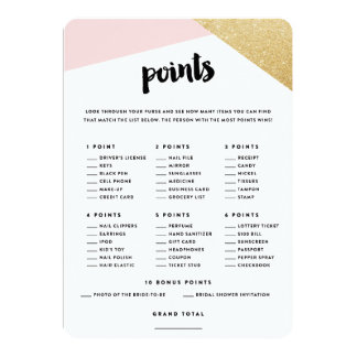 Corners   Bridal Shower Purse Points Cards
