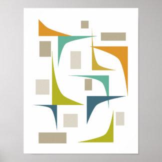 Corners Mid Century Modern Print