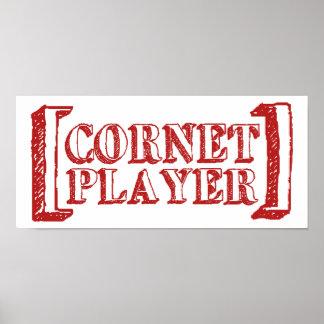 Cornet Player Poster